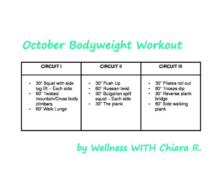 October Bodyweight Workout