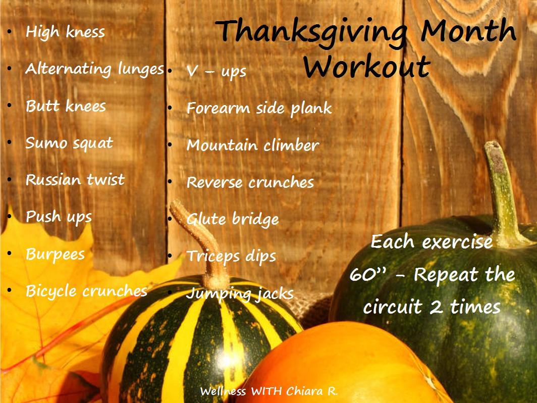 Thanksgiving Month Workout