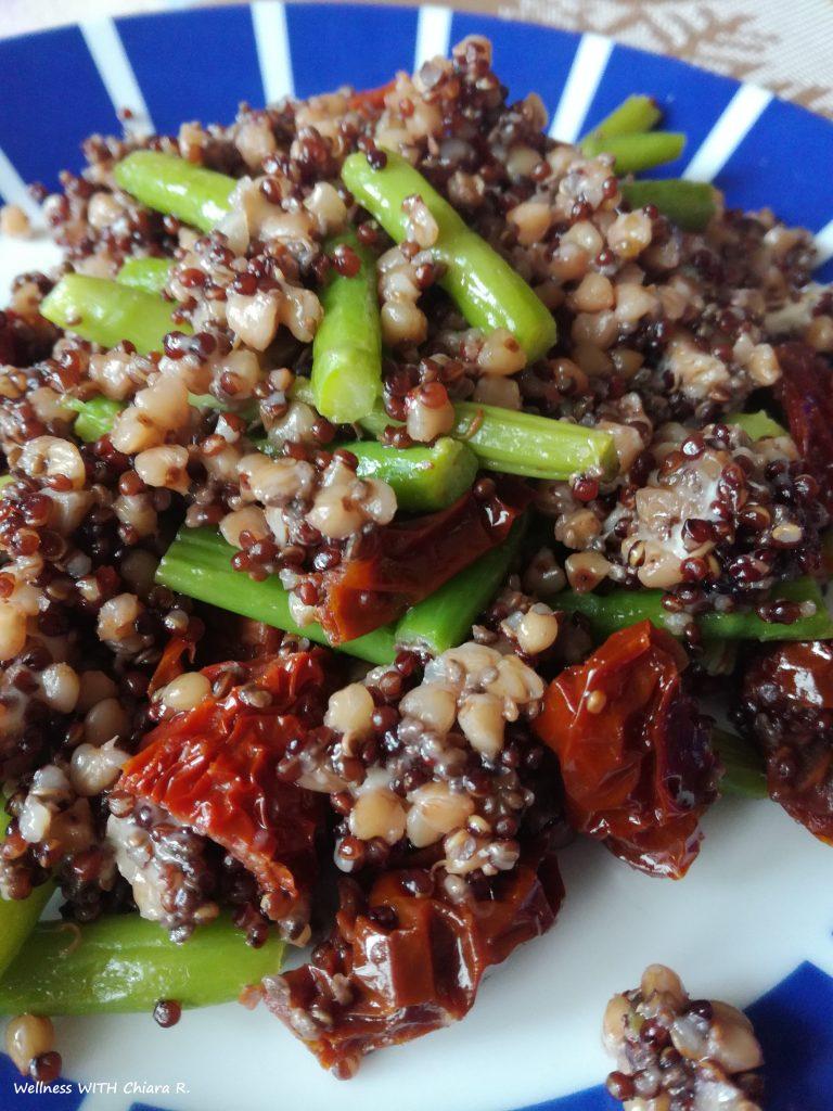 Insalata primavera - cereali e asparagi