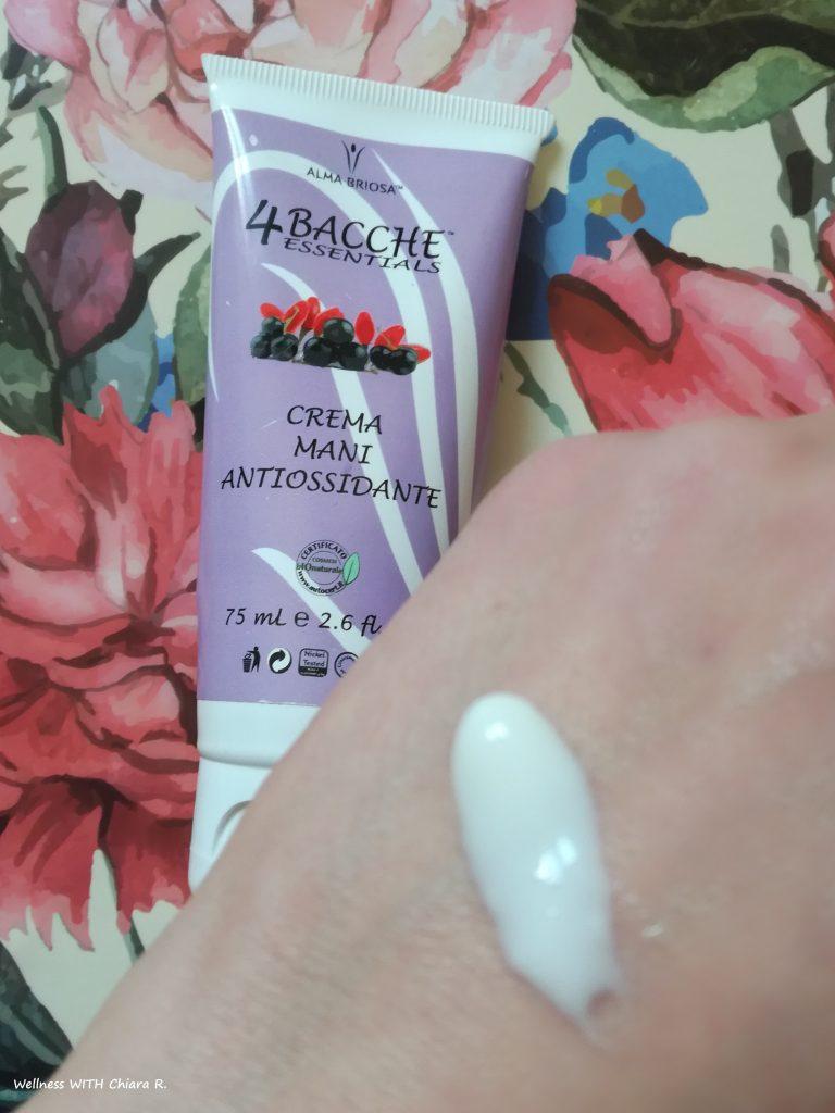 crema mani antiossidante di Alma Briosa