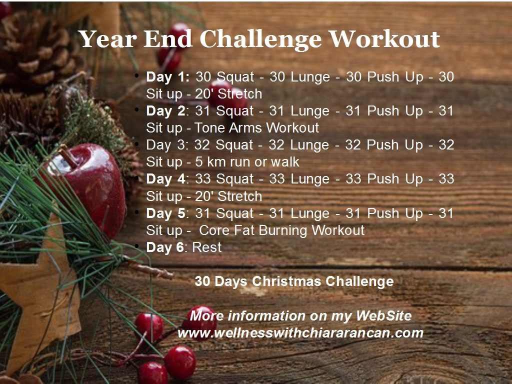 Year End Challenge Workout