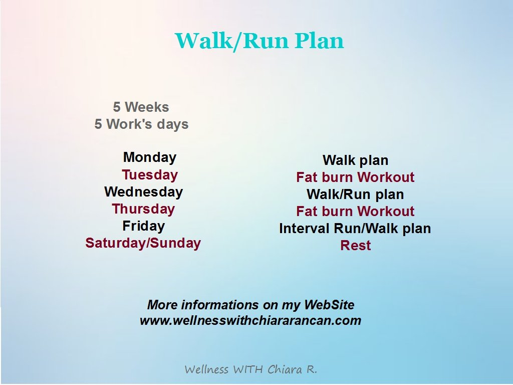 Walk/Run Plan