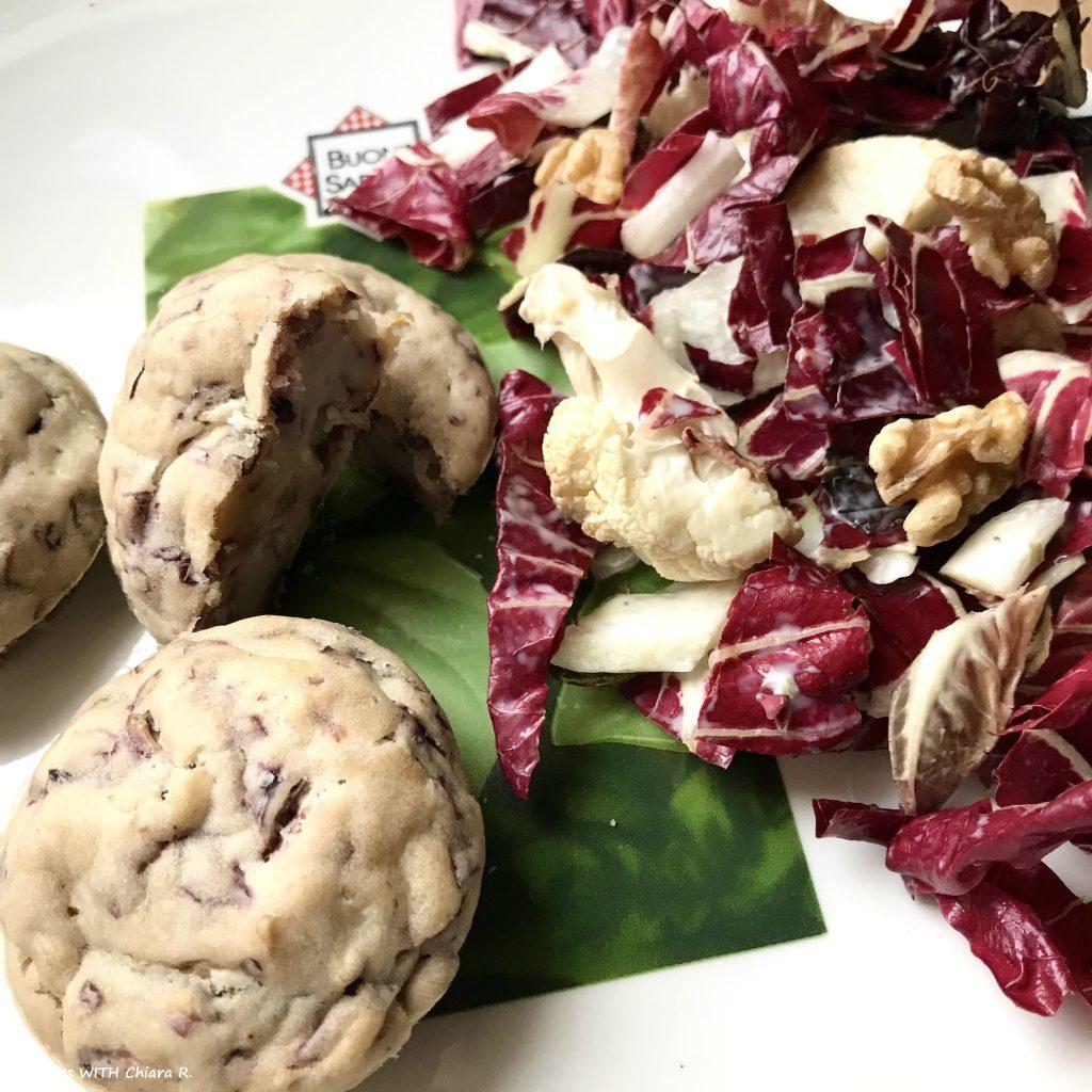 Muffin salato al radicchio